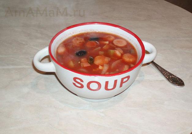 как сварить солянку простую суп рецепт