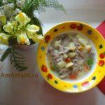Суп из утиных шеек с овощами