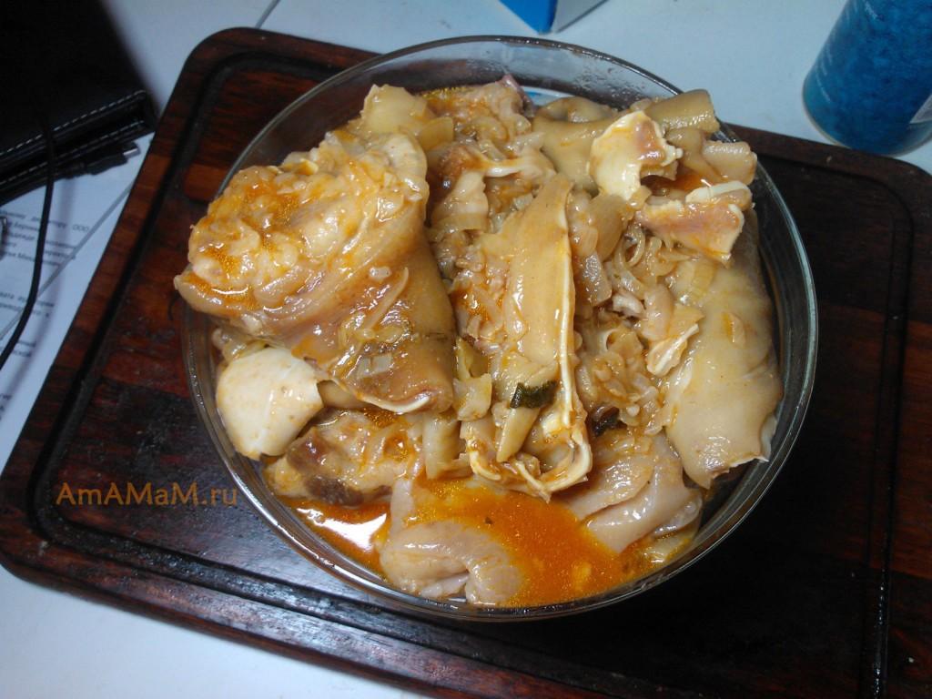 Что готовят из свиных ушей - рецепты