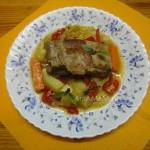 Тушеное мясо на косточке с овощами - рецепт