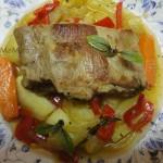 Тушеные овощи со свининой