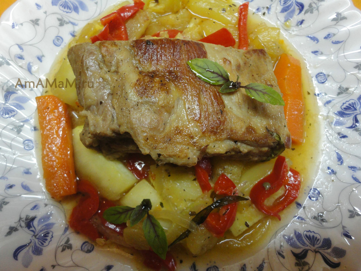 Блюда из ребрышек с пошаговыми фото