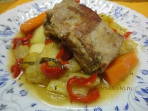 Овощное рагу со свиными ребрышками - рецепт