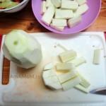 Нарезка кабачка для рагу - фото и рецепт