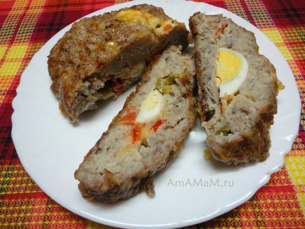 Рецепт рулета из мясного фарша с яйцом внутри