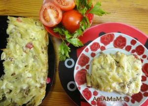 Макароны с фаршем - рецепт запеканки, просто и вкусно