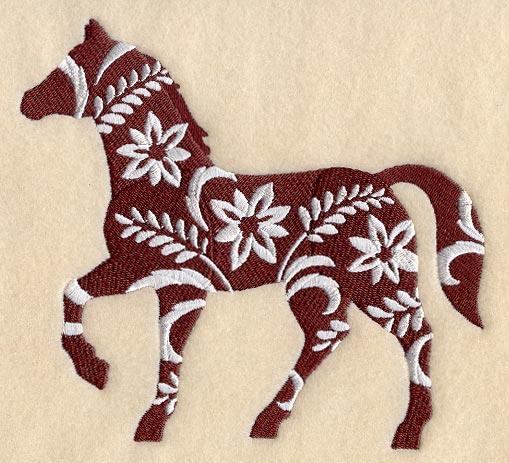 Лошадь в профиль - трафарет