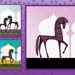 Арабские скакуны, декоративное изображение