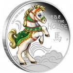 Серебряная монета с изображением лошади