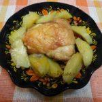 Куриные бедрышки запеченные с картофелем