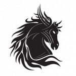 Татуировка в виде головы лошади
