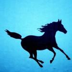 Как нарисовать скачущую лошадь - картинка
