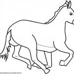 Как рисовать скачущего коня