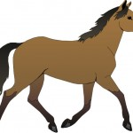 Бегущая лошадь - рисунок