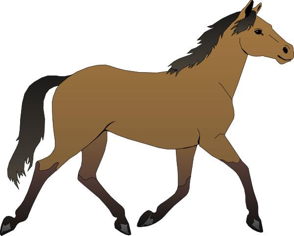 Бегущая лошадь - рисунок: amamam.ru/loshadi-shablony-i-trafarety-dlya-podelok
