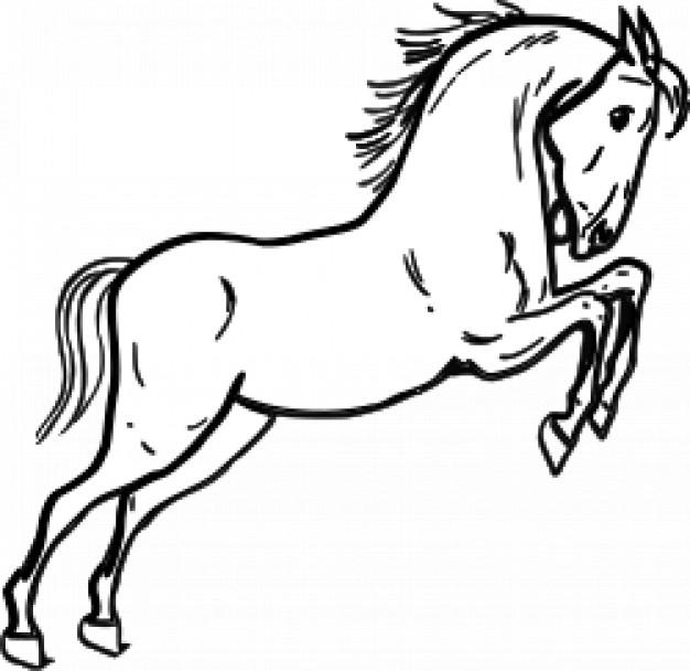 Рисунки раскраски лошадки