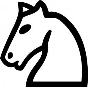 Голова коня из шахмат