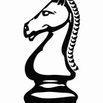 Фигурки коня из шахмат