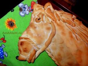Рецепт пирога в виде лошади - дрожжевое тесто
