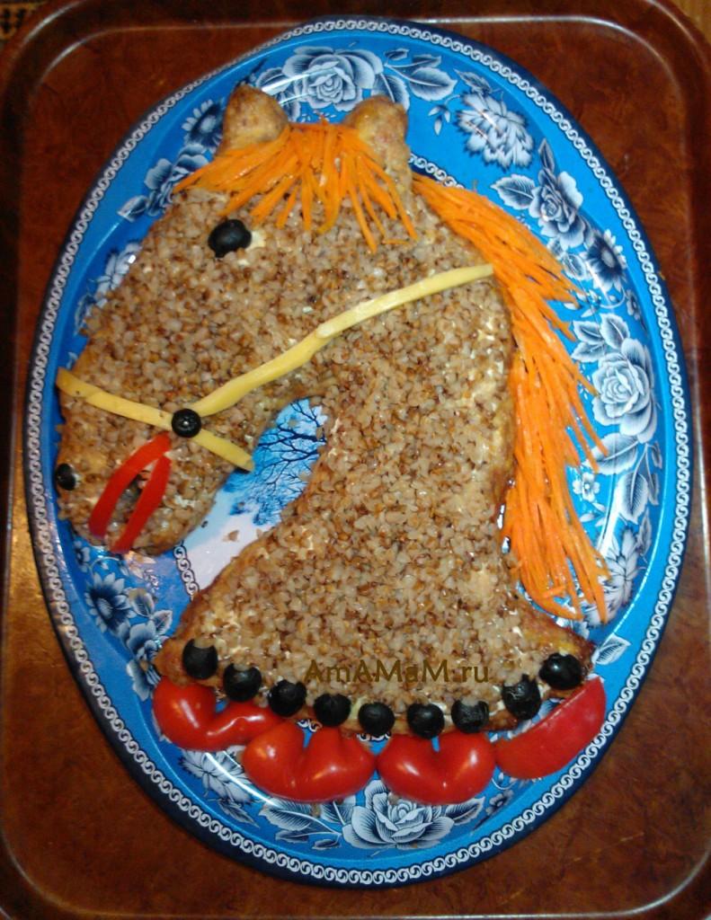 Лошадь-девочка - как сделать лошадку из еды