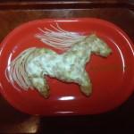 Как украсить новогоднюю лошадь из еды