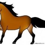 Простые рисунки лошадей