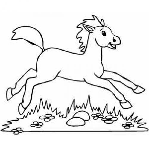 шаблон для печенья лошадка