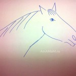 Легкий рисунок лошади - пример