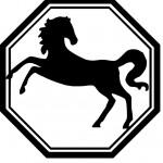 Кк нарисовать лошадь - шаблон силуэта