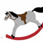 Рисунок коня-качалки