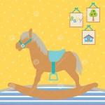 Как нарисовать детскую качалку-лошадку