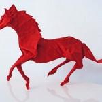 Поделки -оригами в форме лошади, фото