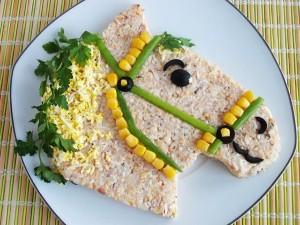 Как сделать бутерброд или салат в виде лошади - рецепт и фото