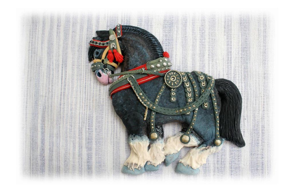 Красивая съедобная лошадка - печенье
