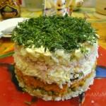 Слои вкусного салата, состав, порядок выкладки слоев