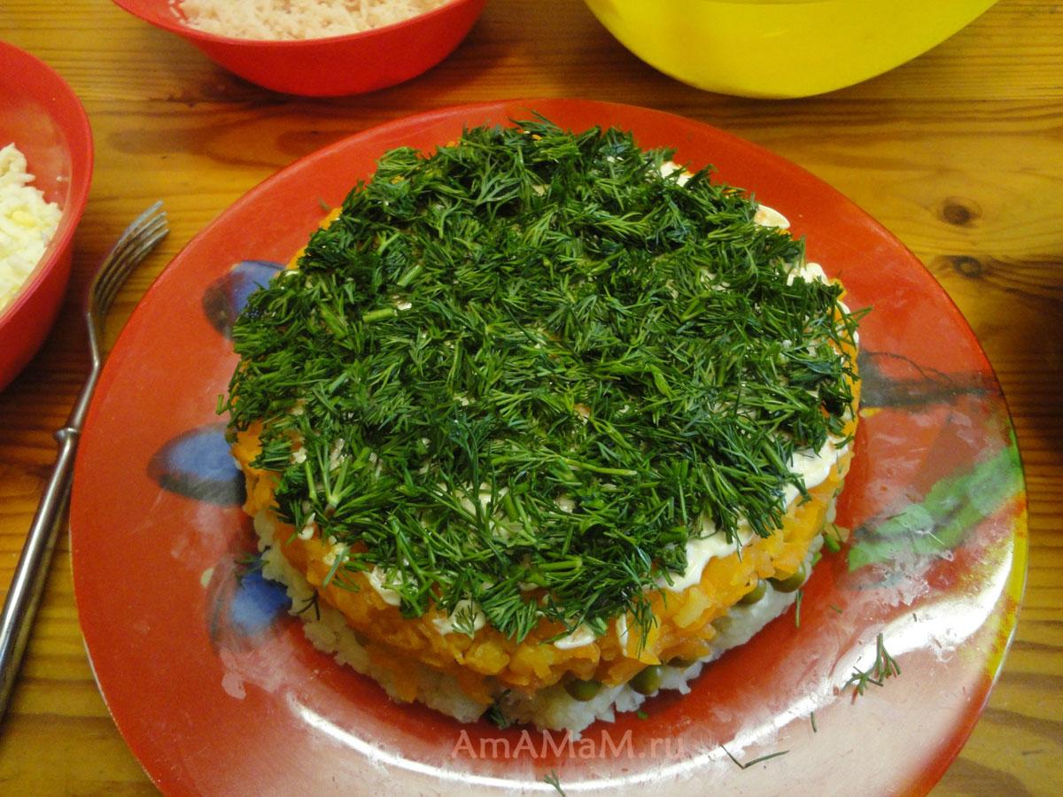 Рецепты салатов с кальмарами рецепты с фото