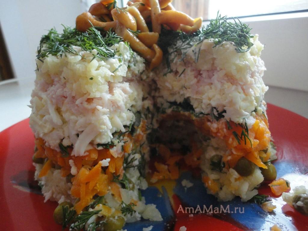 Простые салаты на праздник рецепты с фото