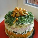 Вкусный праздничный салат - легкий рецепт