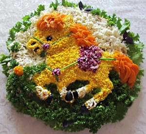 Как украсить блюда в год Лошади - салаты