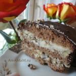 Рецепт домашнего шоколадного торта с начинкой из халвы