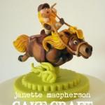Как делать торты с фигурками коней - фото