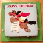 Как украсить торт мастикой с рисунком лошади