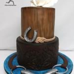 Как сделать торт с символами лошади - подкова, сбруя