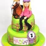 Детский торт для девочки, увлекающейся верховой ездой