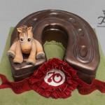 Усталая лошадка - торт-подкова