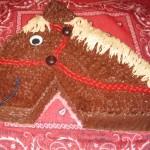 Голова лошади - торт с масляным кремом