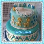 Торт с лошадьми - фото