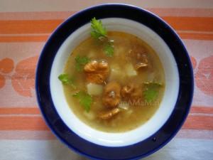 Рецепт грибного супа с чечевицей
