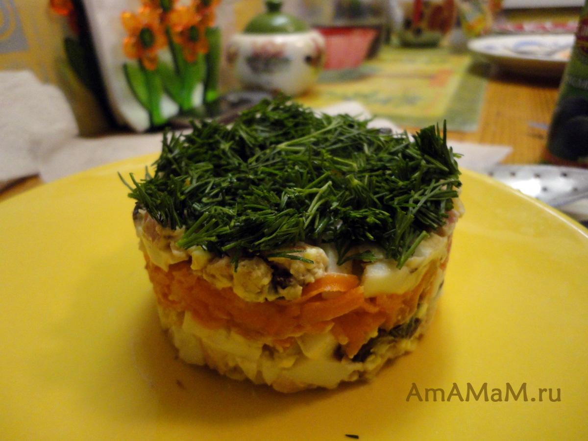Как сделать салат слоями если нет формы