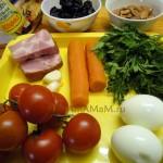Из чего делать салат Божья коровка